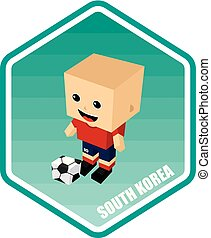 soccer isometric theme south korea