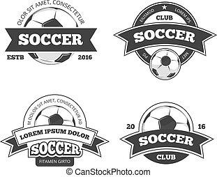 Soccer labels vector set