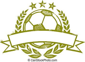 soccer, laurbær krans, banner