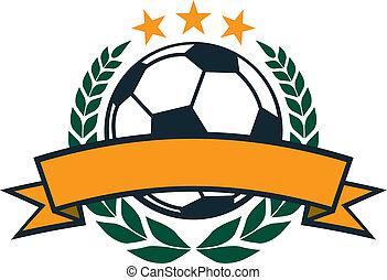 Soccer Laurel Wreath Banner
