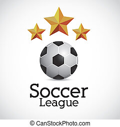 soccer league design over gray background vector...
