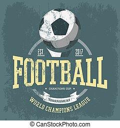 Soccer logo or football team emblem for t-shirt