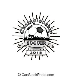 Soccer logo template design