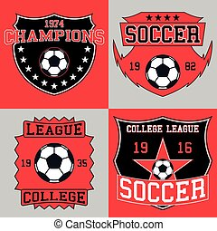 Soccer logo typography, t-shirt graphics