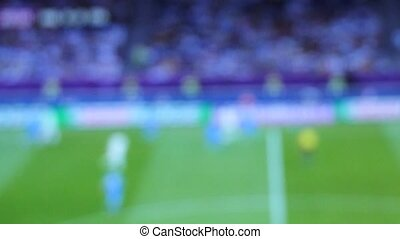 soccer match - blurred Match of an european football (...