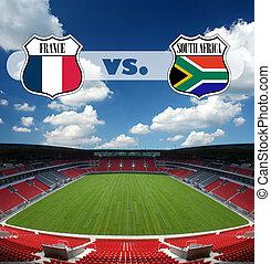 soccer match France vs South Africa
