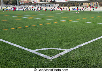Soccer Match - VALENCIA, SPAIN - NOVEMBER 8, 2014: A youth...