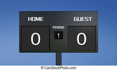 soccer match scoreboard home lost s