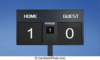 soccer match scoreboard home Wins s - soccer match...