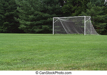 Soccer Net - an image of a Soccer Net with trees