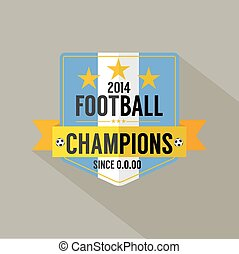 Soccer or Football Champions Badge.