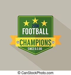 Soccer or Football Champions Badge.