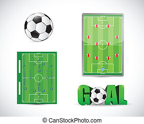soccer or football concept illustration