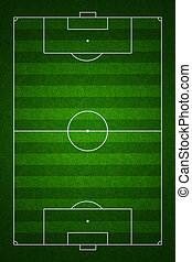 Soccer or football field or pitch top view with proper...