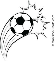Soccer or Football Pow - Vector illustration of a soccer or...