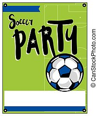 Soccer Party Invitation Template Illustration