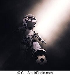 soccer piłka nożna, robot, /, 3d
