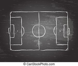 Soccer Pitch Blackboard