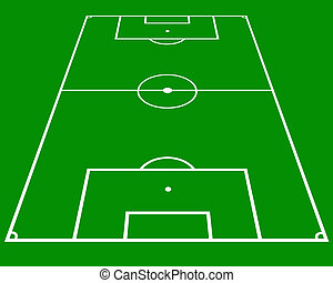 soccer pitch in perspective