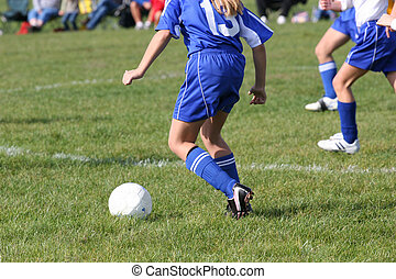 Soccer Play in Action 8 - Teen Soccer player in action ...