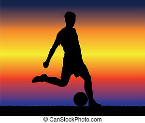 soccer player - background