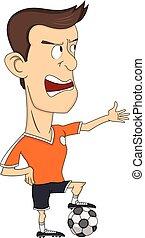 Soccer player cartoon