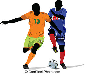 Soccer player. Colored Vector