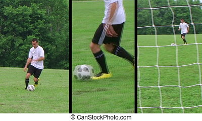 Soccer Player Composite - Male soccer player montage.