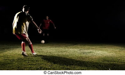 Soccer Player Dribbling A Ball Slow Motion 1