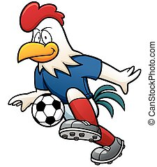 Soccer player - Cartoon Soccer player - Rooster