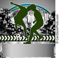 Soccer player grunge Poster
