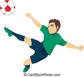 Soccer Player Jumping