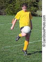Soccer Player Kicking