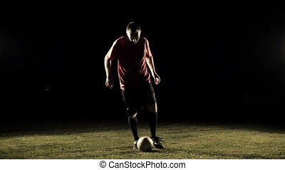 Soccer Player Legs In Action Slow Motion 1