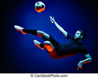 Soccer player Man isolated
