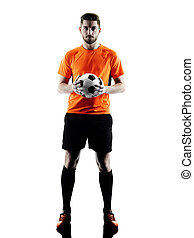 Soccer player Man Isolated silhouette