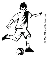 soccer player mascot