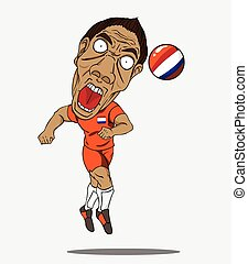 Soccer player. Netherland