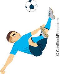 Soccer Player Scissor Kick