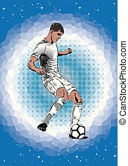 soccer player shooting silhouette