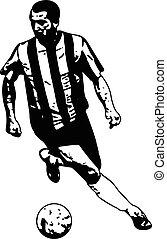 soccer player sketch illustration