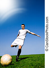 soccer player - soccer or football  player on the field
