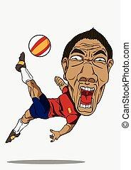 Soccer player. Spain
