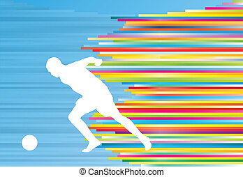 Soccer player vector background template concept