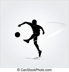 soccer player vector illustration