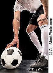 Soccer player with ball