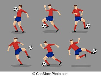 Soccer Player with Soccer Ball Illustration - Collection of...