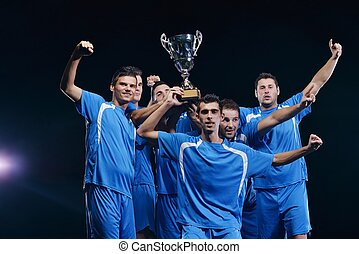 soccer players celebrating victory - soccer players team ...