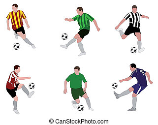 soccer players illustration 2
