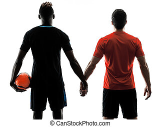 soccer players men isolated silhouette white background